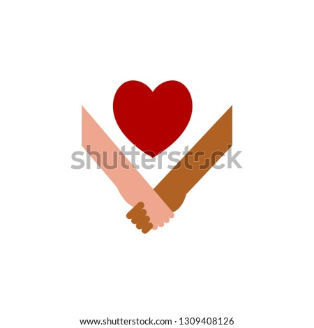 Hold hands and heart icon. Element of Web Valentine day icon for mobile concept and web apps. Detailed Hold hands and heart icon can be used for web and mobile