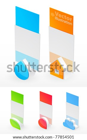 Holder with different shapes for menu, card, photo, and other