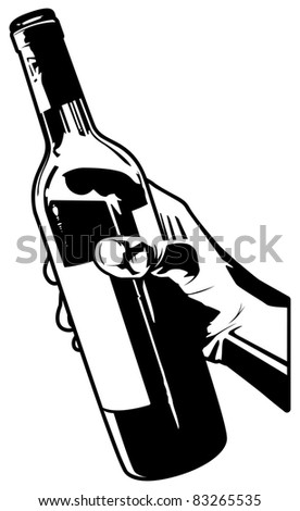 Holding a Bottle of Wine.