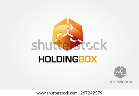 holding box vector logo this