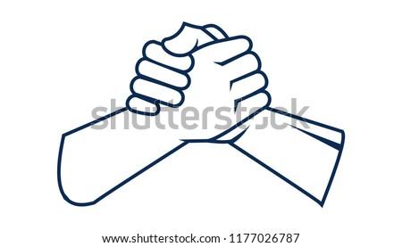 holding hands vector, icon Сток-фото ©