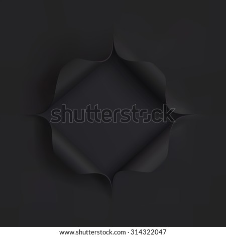 hole in black paper template