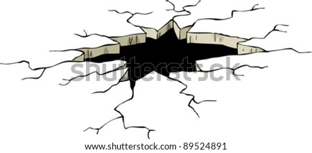 Hole on a white background, vector illustration