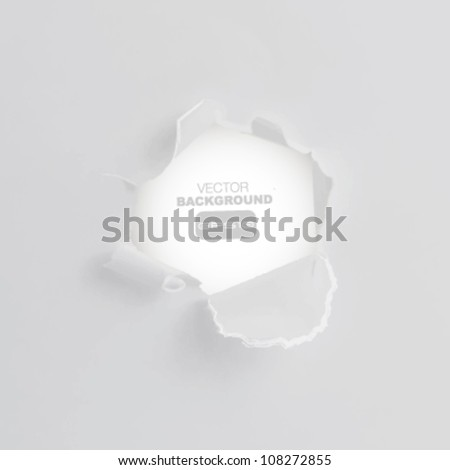 hole paper background.Vector design.