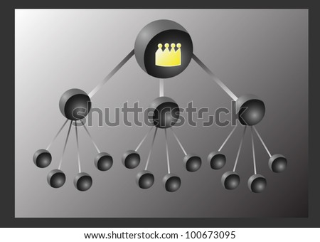 Holes Flowchart on steel surface Background Vector