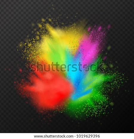 holi paint explosion realistic