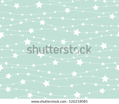 Holiday background, seamless pattern with stars. Vector illustration.