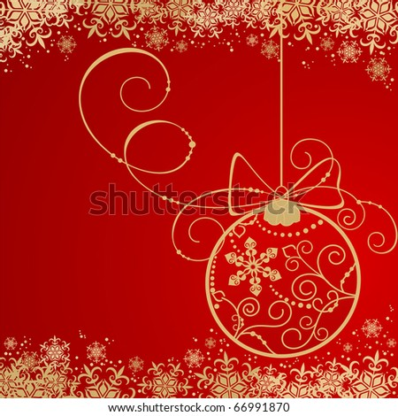Holiday background with Christmas decorations