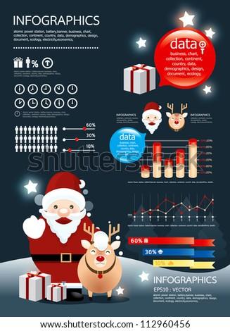 holiday christmas  infographic vector