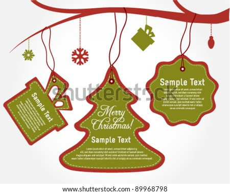 Holiday Christmas Labels