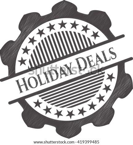 Holiday Deals draw (pencil strokes)