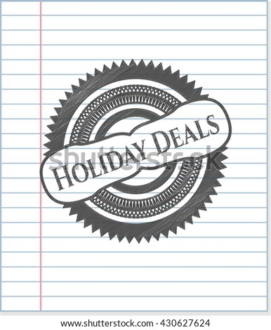 Holiday Deals draw with pencil effect