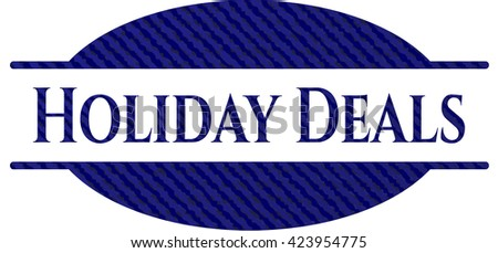 Holiday Deals emblem with jean high quality background