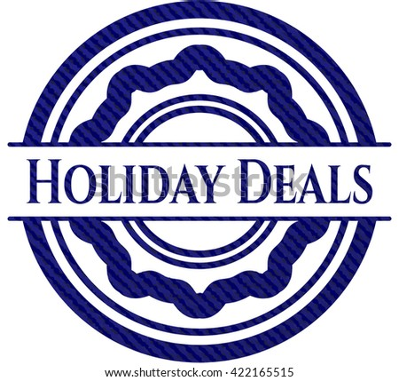 Holiday Deals emblem with jean texture