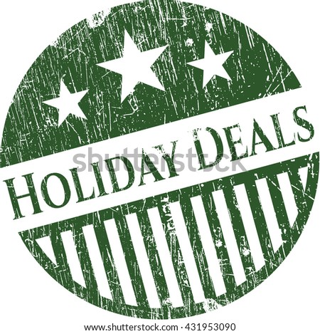 Holiday Deals grunge seal