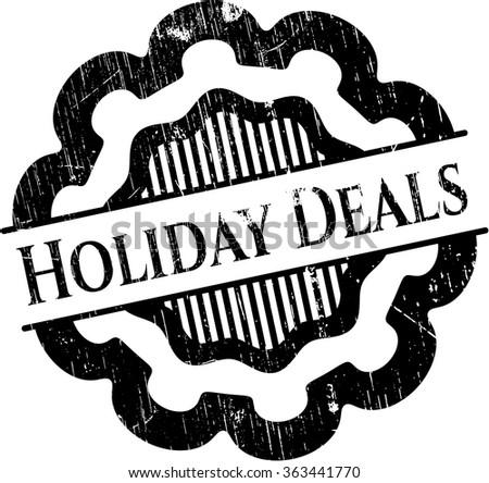 Holiday Deals rubber grunge texture stamp