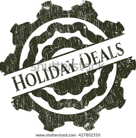 Holiday Deals rubber stamp with grunge texture