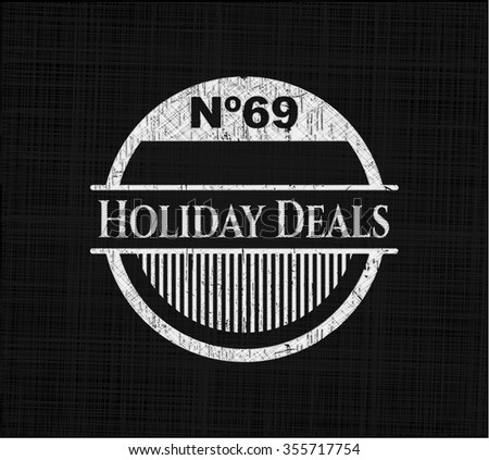 Holiday Deals with chalkboard texture