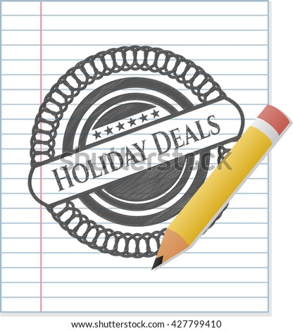 Holiday Deals with pencil strokes