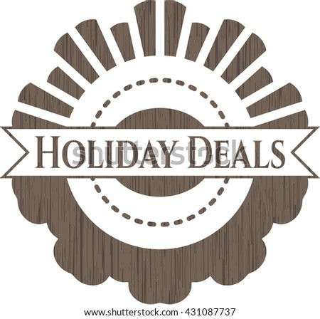 Holiday Deals wood icon or emblem