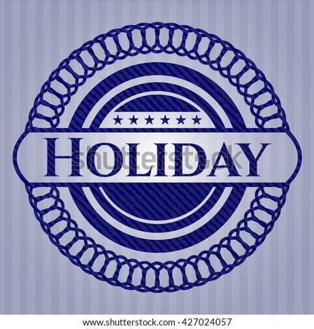 Holiday denim background