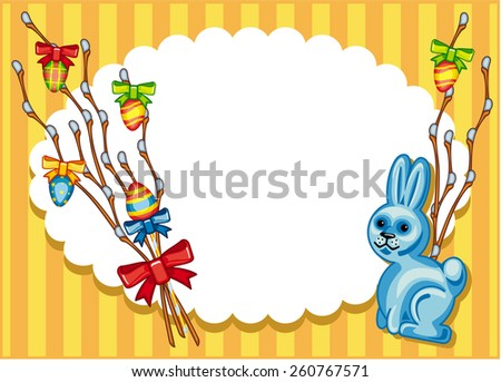Holiday Easter background with bunny