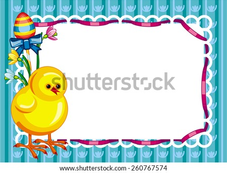 Holiday Easter background with chicken