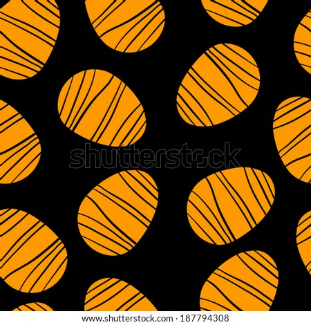Holiday easter eggs seamless pattern. Endless print silhouette texture - vector