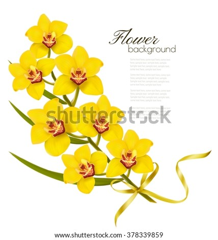 holiday flowers background with