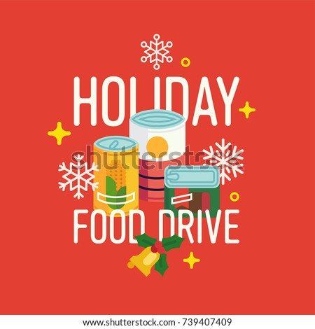 holiday food drive vector...
