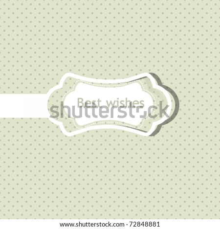 Holiday frame with sticker, polka dot background