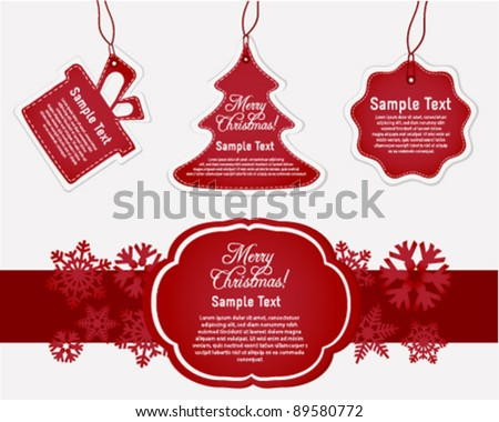 Holiday Gift Tags and Labels - stock vector
