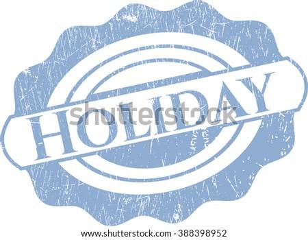 Holiday grunge stamp