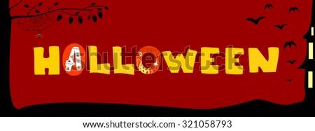 Holiday Halloween vector illustration