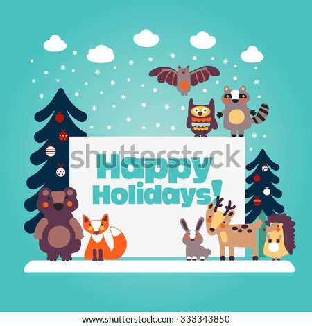 holiday lovely vector card with