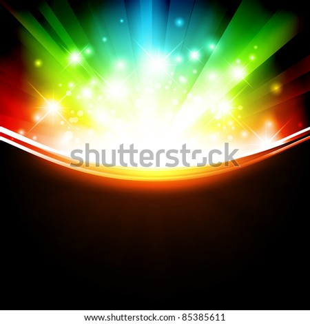 holiday multicolored template