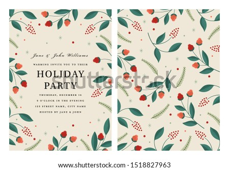 Holiday Party Invitation Template in Vector