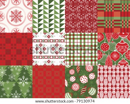 Holiday Patterns - stock vector