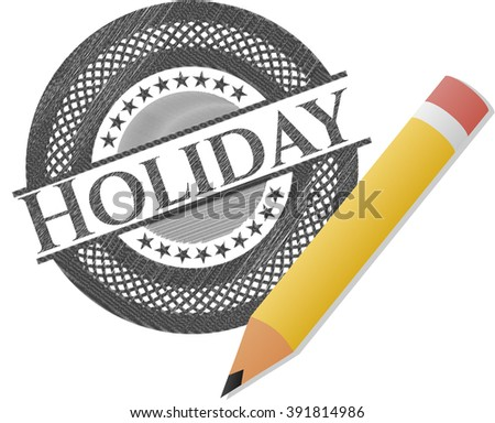 Holiday pencil effect