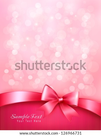 holiday pink background with