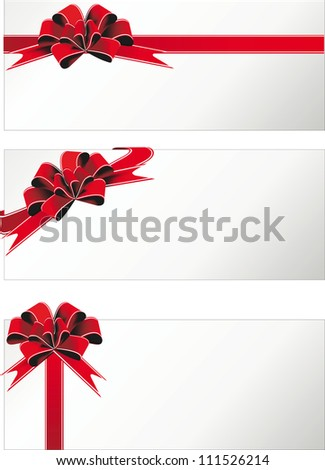 holiday ribbon and bows and banners frame for congratulations  vector, border