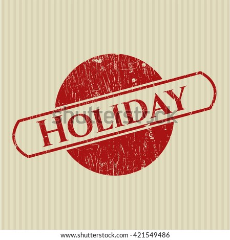 Holiday rubber grunge stamp