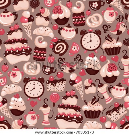 Holiday seamless pattern from sweet