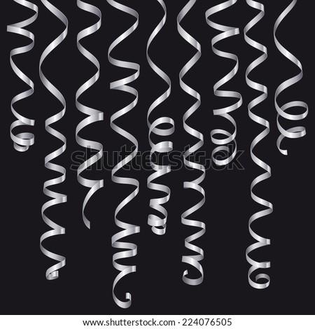 Holiday serpentine ribbons set