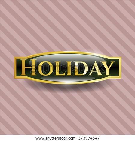 Holiday shiny badge