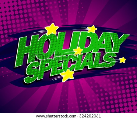 Holiday Specials Bright Violet Banner Comic Style