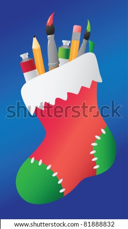 holiday stocking filled with