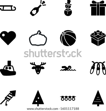 holiday vector icon set such as: set, vegetarian, firework, claus, harvest, web, ripe, sphere, people, romantic, fun, thin, ride, nose, autumn, pumpkin, inflatable, agriculture, ball, hat, striped