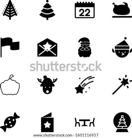holiday vector icon set such as: snowglobe, seasonal, chicken, ice, light, icons, sugar, calendar, beard, claus, shape, ripe, banner, letter, pennant, collection, agriculture, play, travel, natural