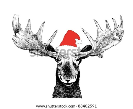 holiday vector of black ink